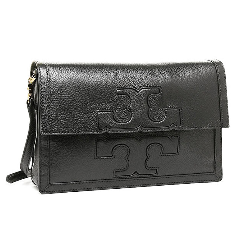 Tory Burch Jessica Square Messenger Black 51149612-001