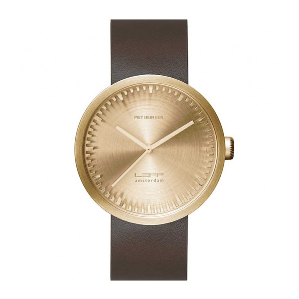 Leff Amsterdam Tube Watch D42 Brass LT72022