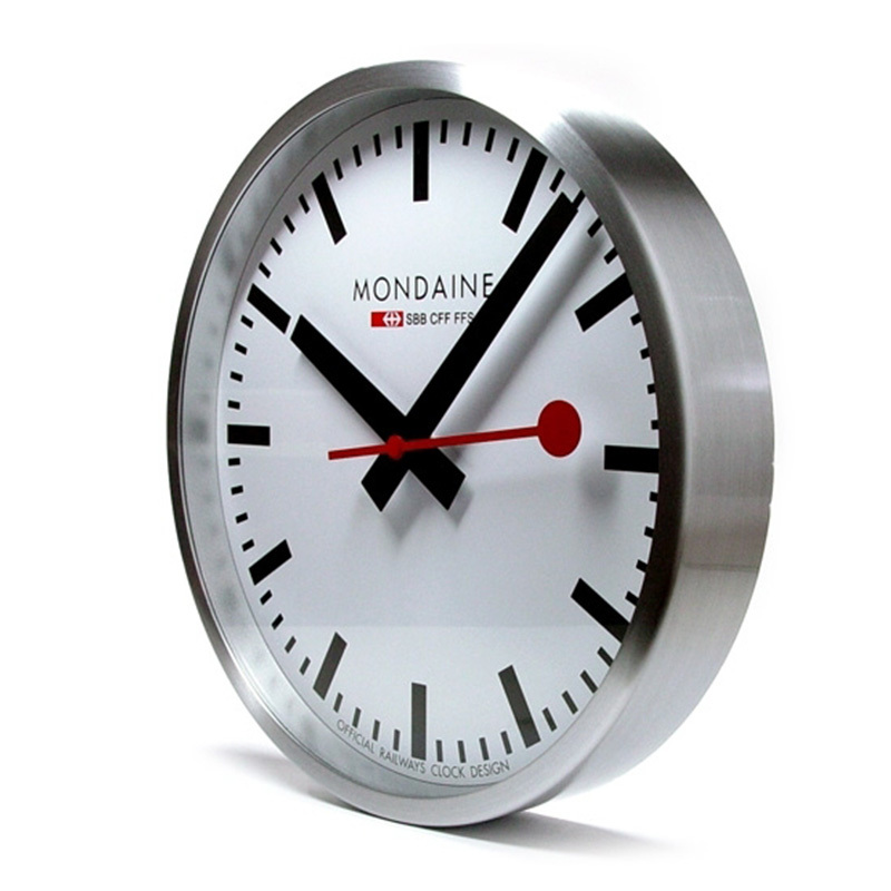 Mondaine alu wall clock mon010 - Mondaine wall clocks ...