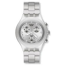 Swatch Irony Diaphane Chrono, Full-Blooded Silver SVCK4038G