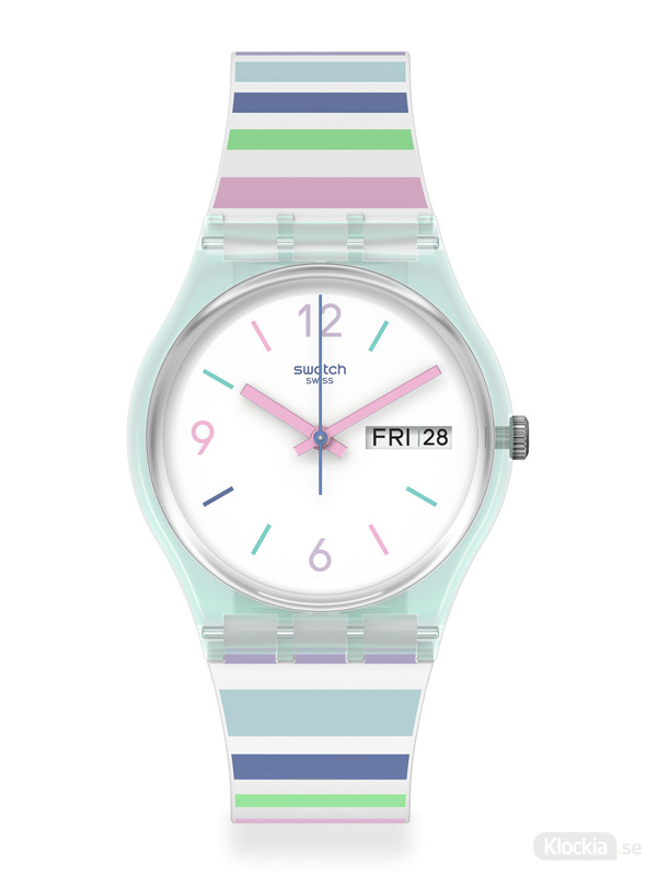 Swatch pastel zebra gl702 damklocka
