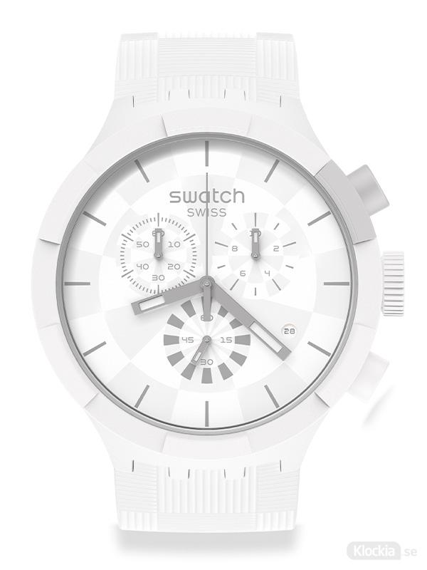 SWATCH Chequered white SB02W400