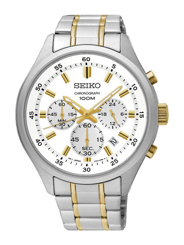 SEIKO Mens Crono 43mm SKS589P1