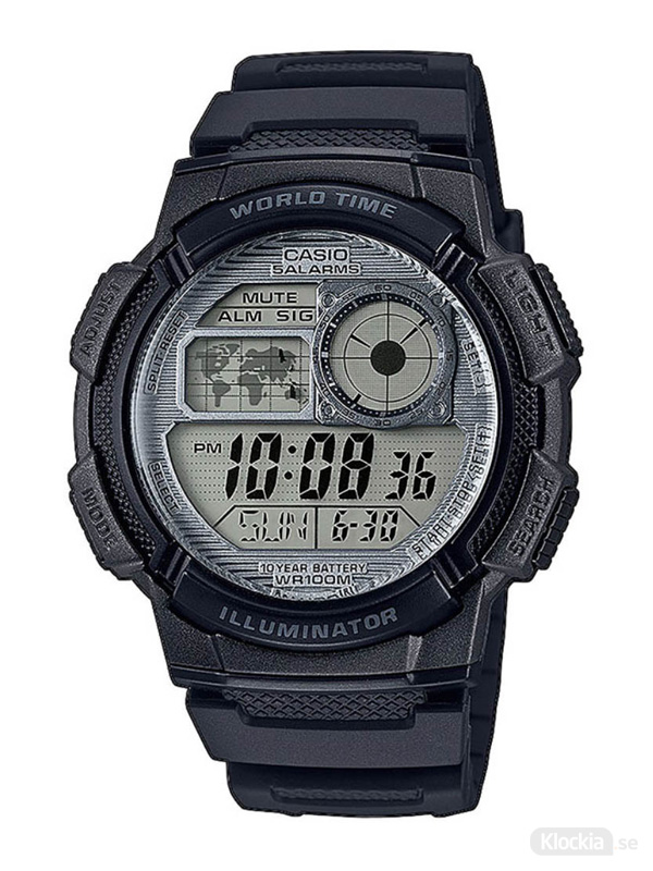 Herrklocka CASIO Collection World Time AE-1000W-7AVEF