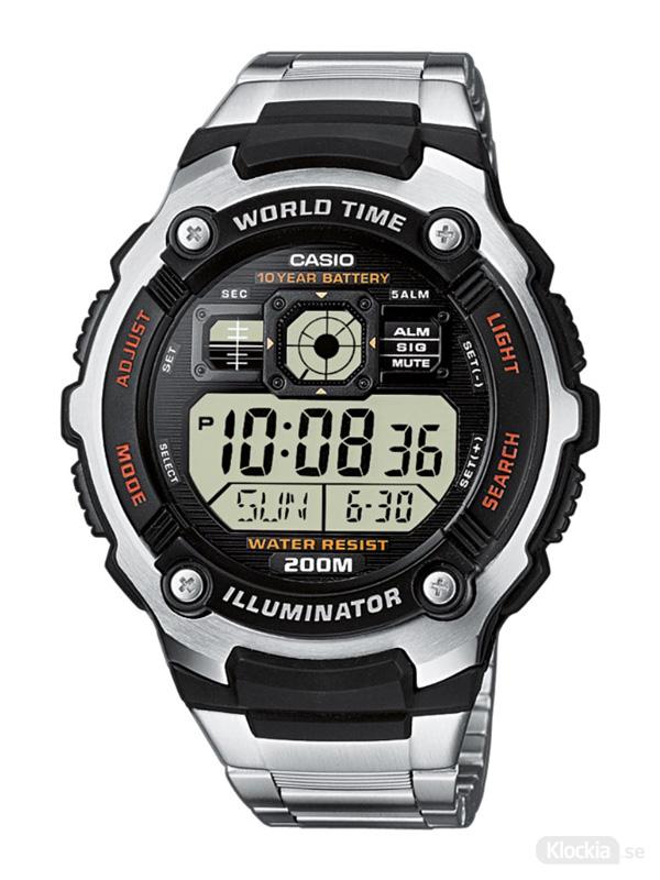 Herrklocka CASIO Collection World Time AE2000WD-1AVEF
