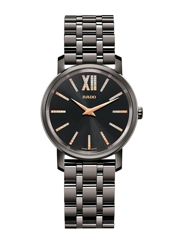 Rado Diamaster Mini Black Dial Black Ceramic Ladies Watch R14064707