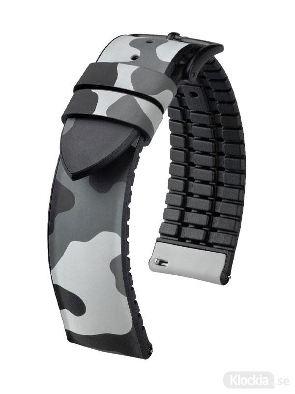 Hirsch John 20mm Large Grå/Silver 0925088030-5-20 - Klockarmband