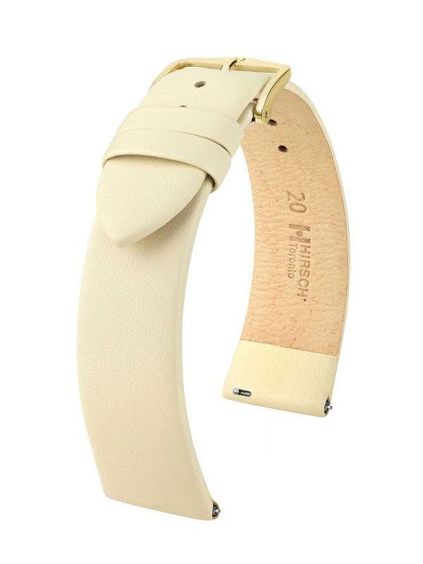 Klockarmband Hirsch Toronto 20mm Medium Beige/Guld 03702190-1-20