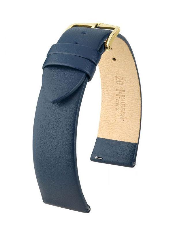 Klockarmband Hirsch Toronto 20mm Large Blå/Guld 03702080-1-20