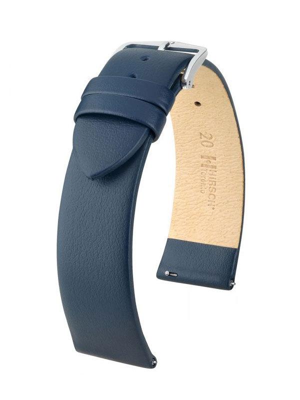 Klockarmband Hirsch Toronto 18mm Medium Blå/Silver 03702180-2-18