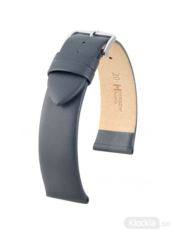 Klockarmband Hirsch Toronto 20mm Large Grå/Silver 03702030-2-20