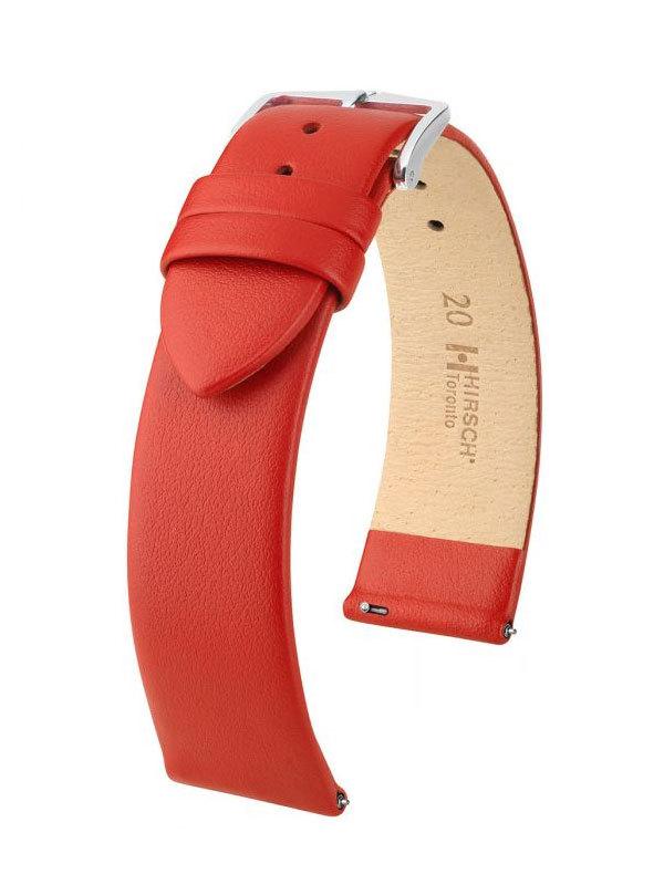 Klockarmband Hirsch Toronto 16mm Large Röd/Silver 03702020-2-16