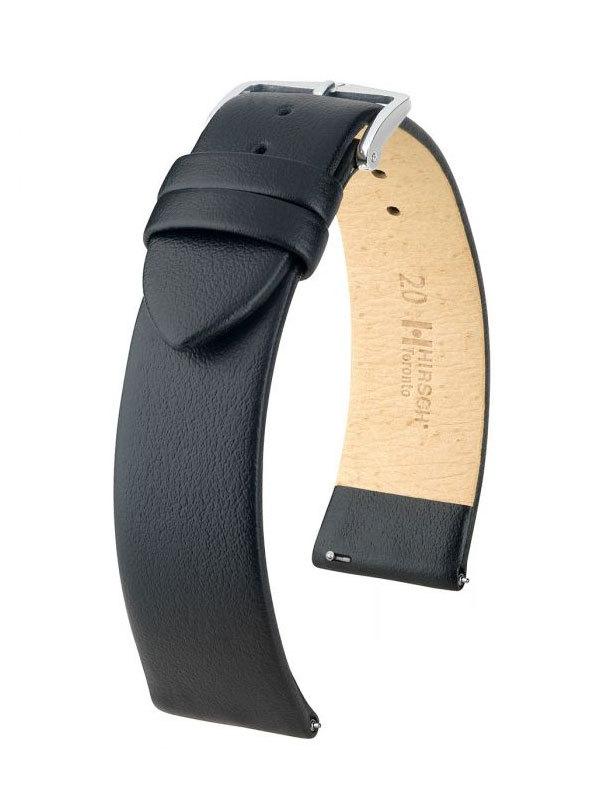 Klockarmband Hirsch Toronto 22mm Extra Large Svart/Silver 03702250-2-22