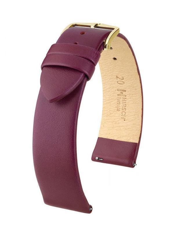 Klockarmband Hirsch Toronto 12mm Medium Vinröd/Guld 03702186-1-12