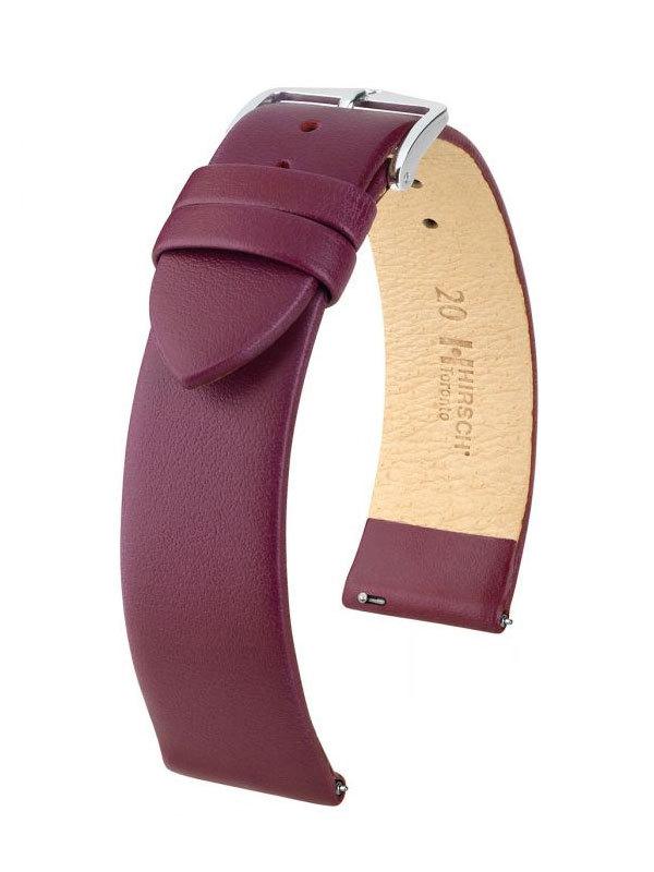 Klockarmband Hirsch Toronto 18mm Medium Vinröd/Silver 03702186-2-18
