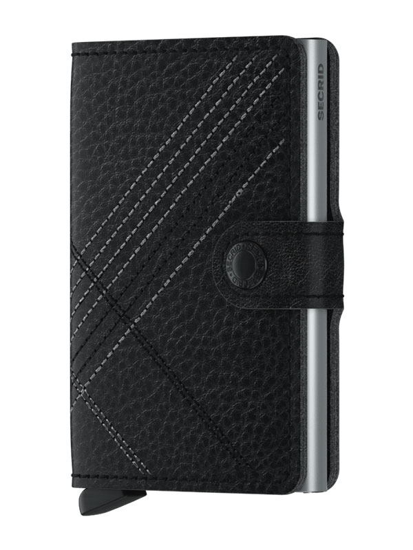 SECRID Miniwallet Stitch Linea Black MSt-Linea-Black