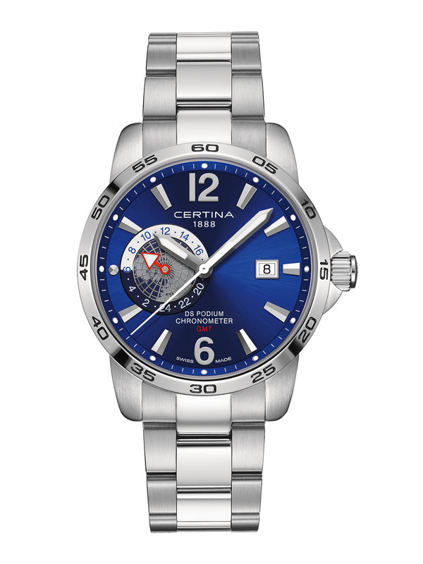 Certina DS Podium GMT COSC Chronometer C034.455.11.047.00