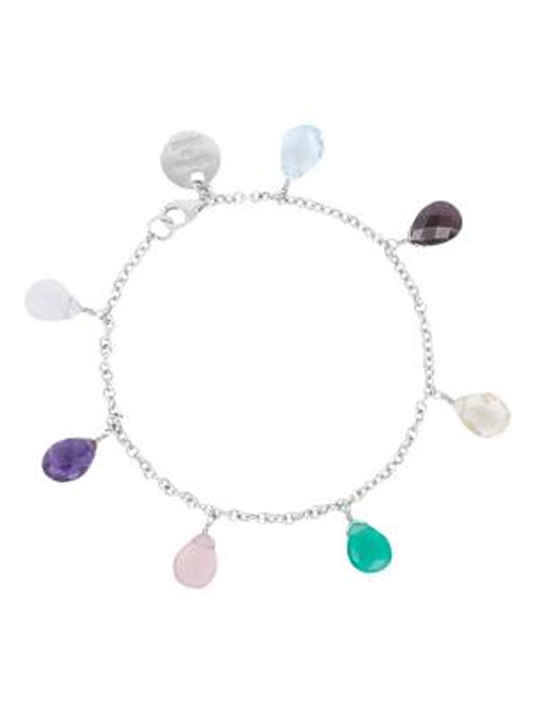 SOPHIE by SOPHIE Briolette bracelet Rhodium plated silver B0430RHS0-OS