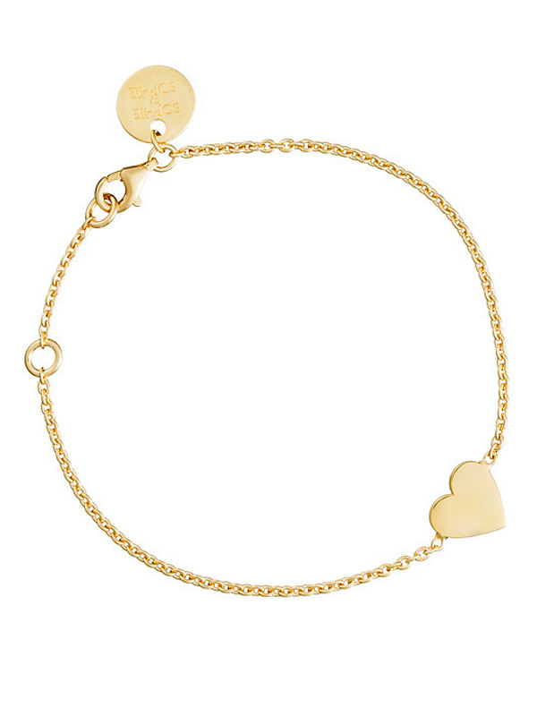 SOPHIE by SOPHIE Heart bracelet Gold plated silver B1222GPS0-OS