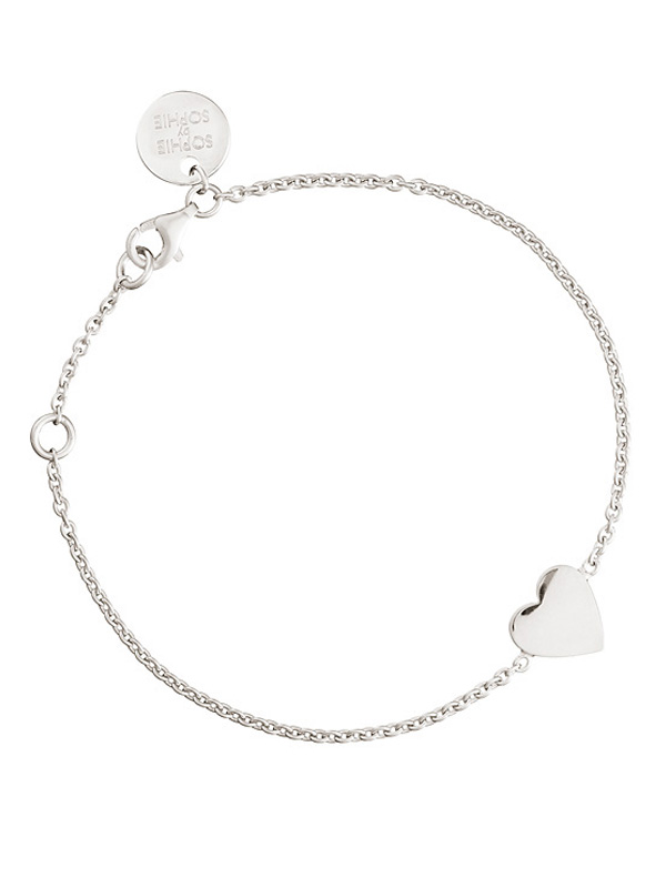 SOPHIE by SOPHIE Heart bracelet Rhodium plated silver B1222RHS0-OS