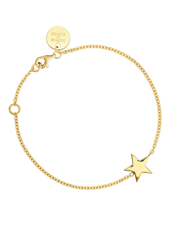SOPHIE by SOPHIE Star bracelet Gold plated silver B1223GPS0-OS