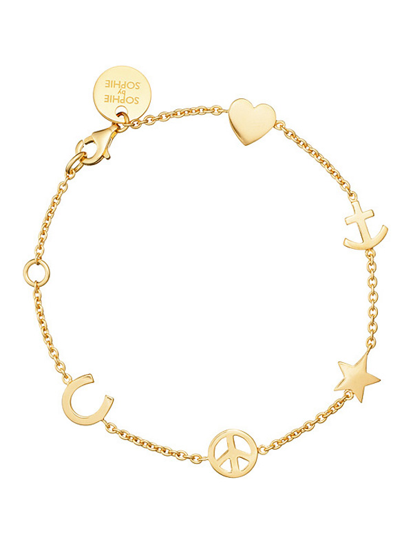 SOPHIE by SOPHIE Symbol bracelet Gold plated silver B1255GPS0-OS