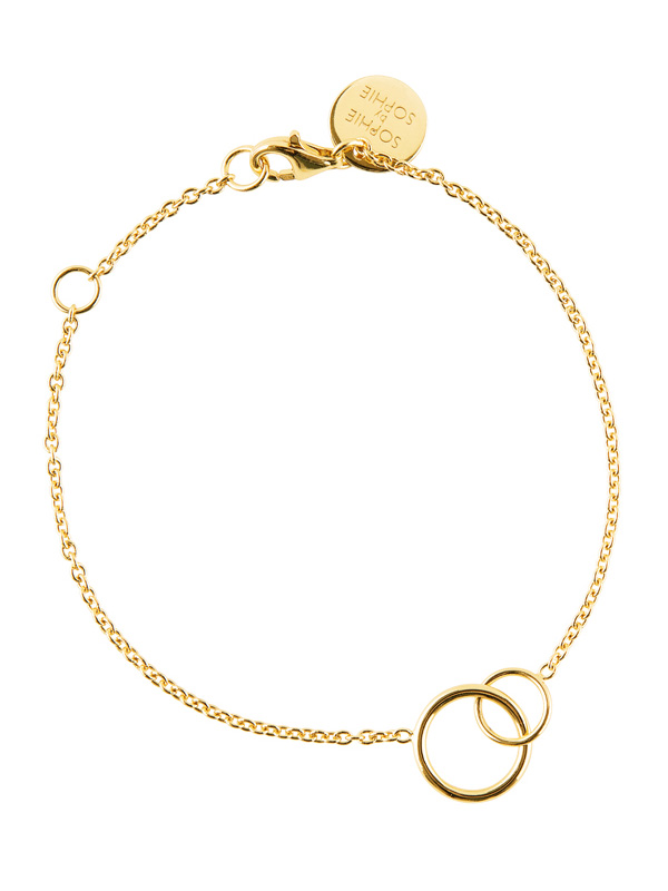 SOPHIE by SOPHIE Circle bracelet Gold plated silver B1270GPS0-OS