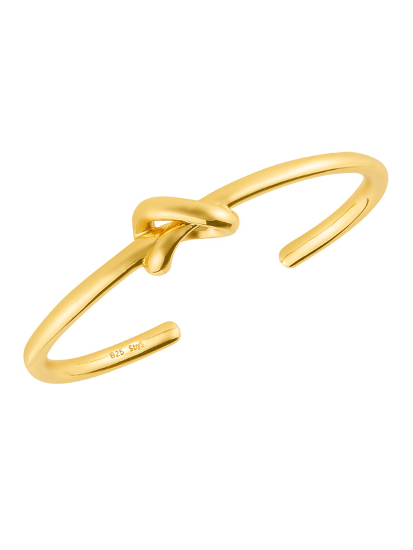 SOPHIE by SOPHIE Knot cuff Gold plated silver B1311GPS0-OS