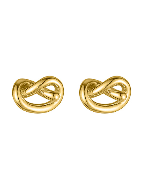 SOPHIE by SOPHIE Knot studs Gold plated silver E1589GPS0-OS