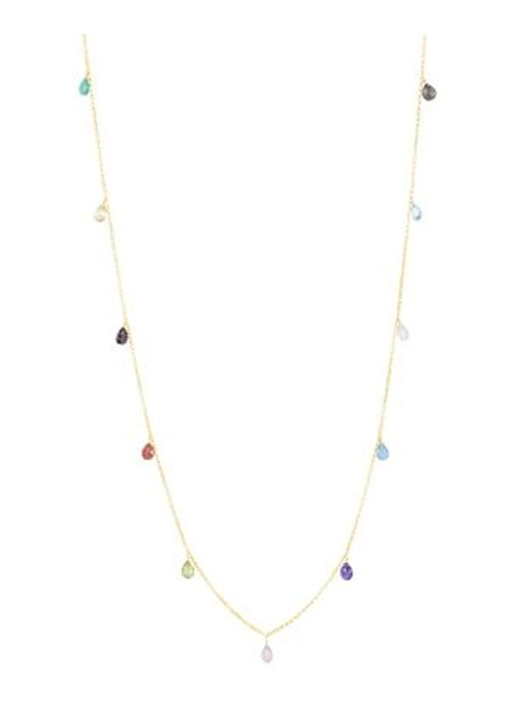 SOPHIE by SOPHIE Briolette necklace long Gold plated silver N0429GPS0-OS
