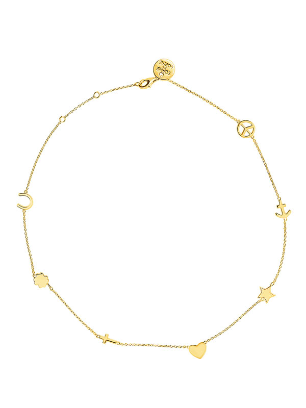 SOPHIE by SOPHIE Symbol necklace S Gold plated silver N1255GPS0-OS