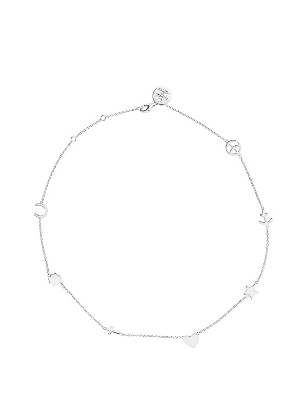 SOPHIE by SOPHIE Symbol necklace S Rhodium plated silver N1255RHS0-OS