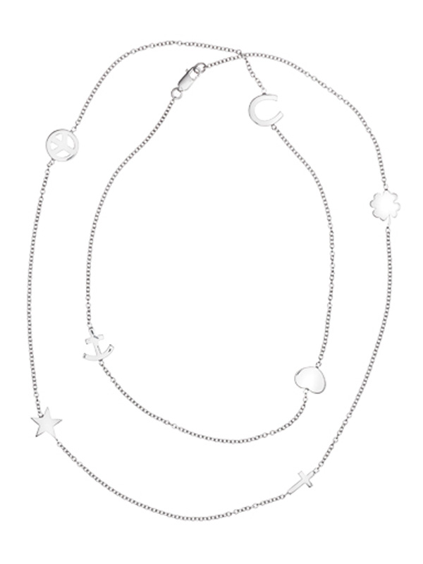 SOPHIE by SOPHIE Symbol Necklace L Rhodium plated silver N1256RHS0-OS