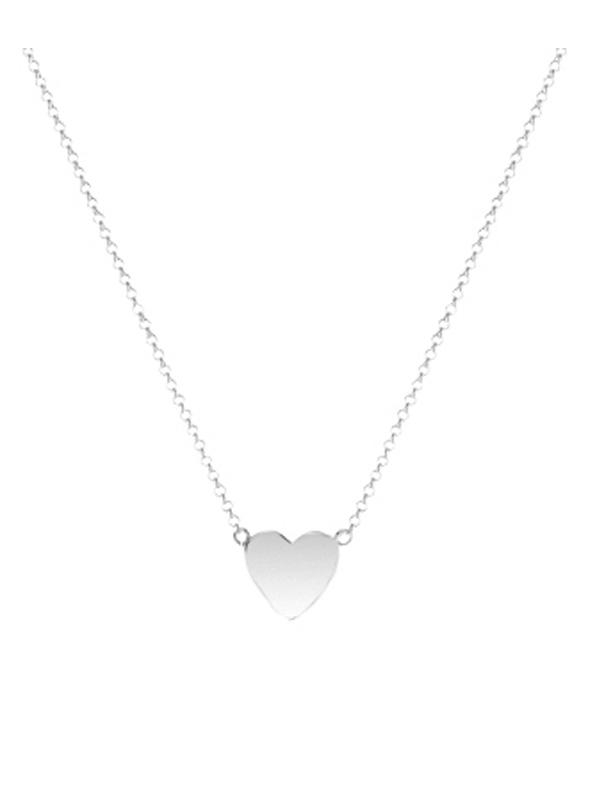 SOPHIE by SOPHIE Mini heart necklace Rhodium plated silver N1457RHS0-OS