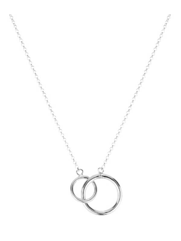 SOPHIE by SOPHIE Mini circle necklace Rhodium plated silver N1458RHS0-OS