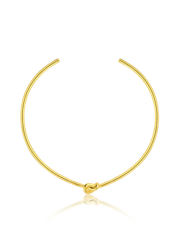 SOPHIE by SOPHIE Knot choker Gold plated brass N1641GPB0-OS
