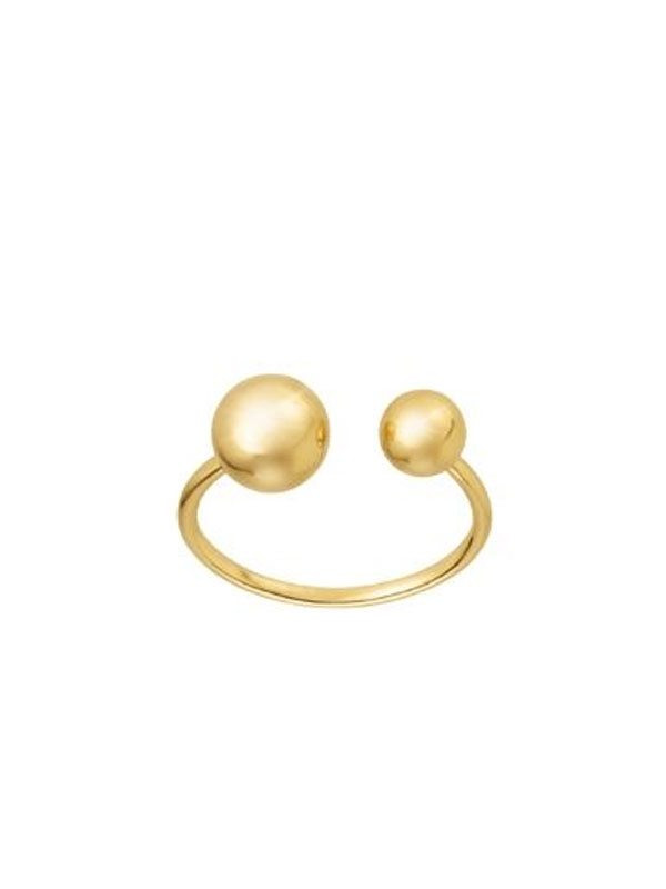SOPHIE by SOPHIE Two planet ring Gold plated silver R1345GPS0-52