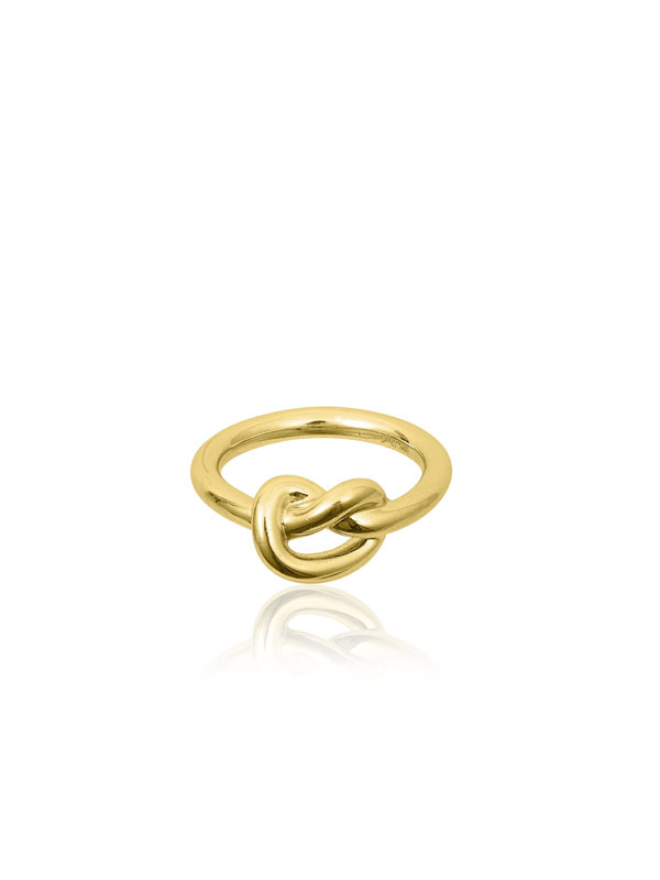 SOPHIE by SOPHIE Knot ring Gold plated silver R1641GPS0-55