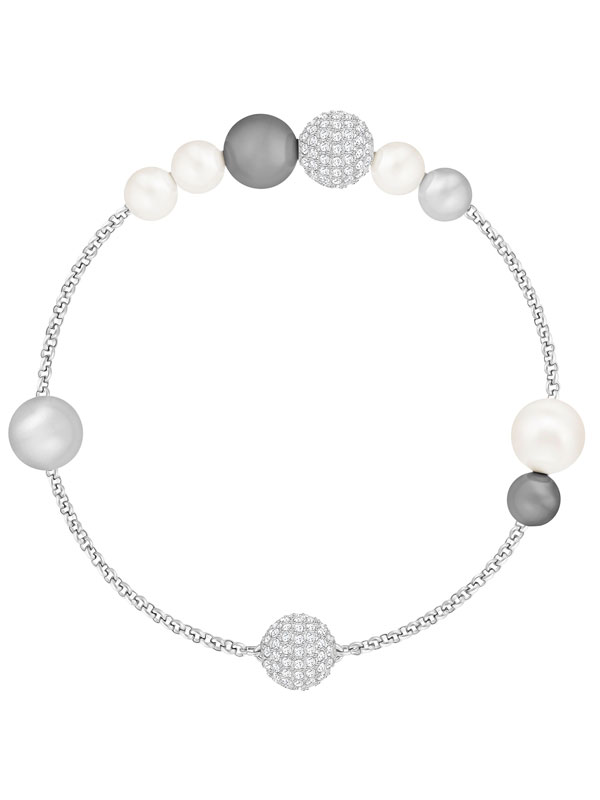 Swarovski Remix Collection Mixed Gray Crystal Pearl 5365739
