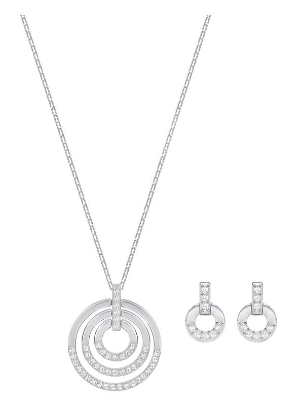 Swarovski Circle Set Halsband och Örhängen 5367727
