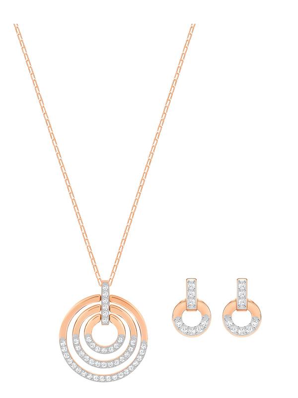 Swarovski Circle Set Halsband och Örhängen 5367890