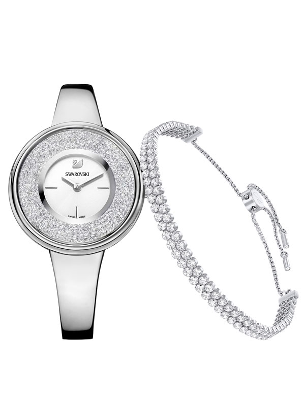 Swarovski Crystaline Pure Set Klocka och Armband 5380026