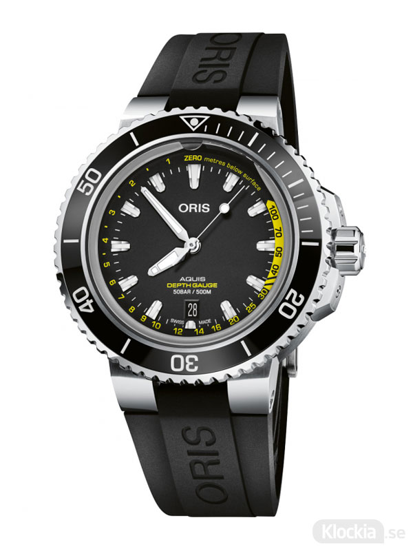 ORIS Aquis Depth Gauge 46mm 733-7755-4154-Set-RS - Dykarklocka