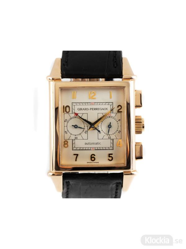 Begagnad Girard-Perregaux Vintage 18c Gold Chronograph 2599
