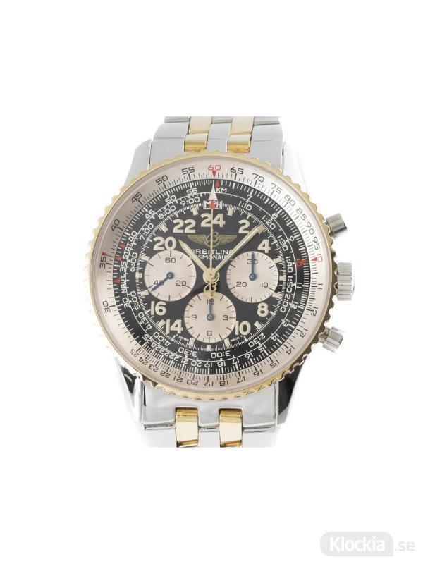 Begagnad Breitling Navitimer Cosmonaut 18c Gold/Steel Chronograph D12022