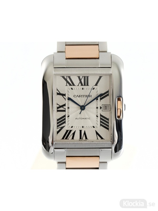 Begagnad Cartier Tank Anglaise 18c Rose Gold/Steel 3507