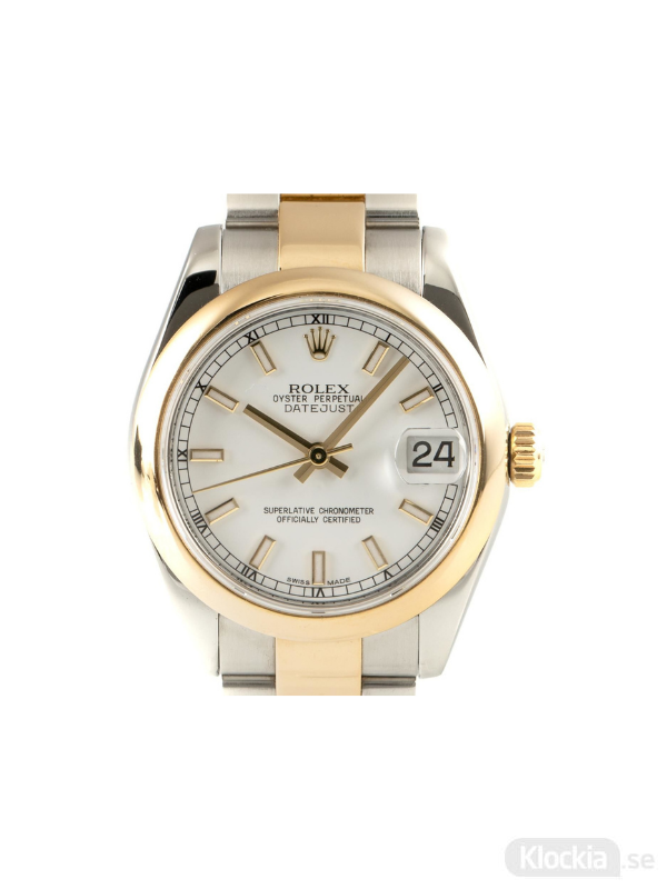 Begagnad Rolex Datejust 31 18c Gold/Steel Oyster Perpetual 178243