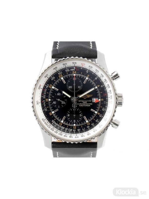 Begagnad Breitling Navitimer World 46 GMT Chronograph A24322