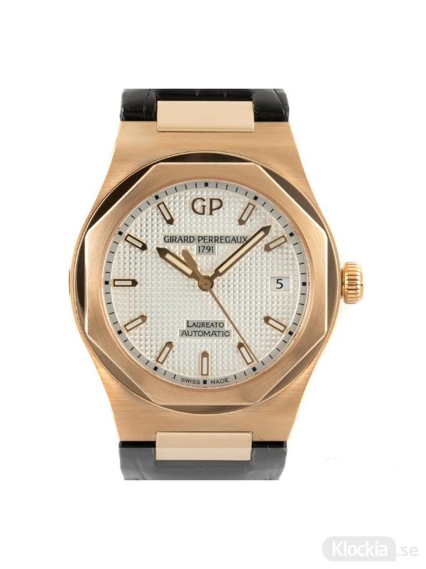 Begagnad Girard-Perregaux Laureato 18c Gold 81005-52-132-BB6A