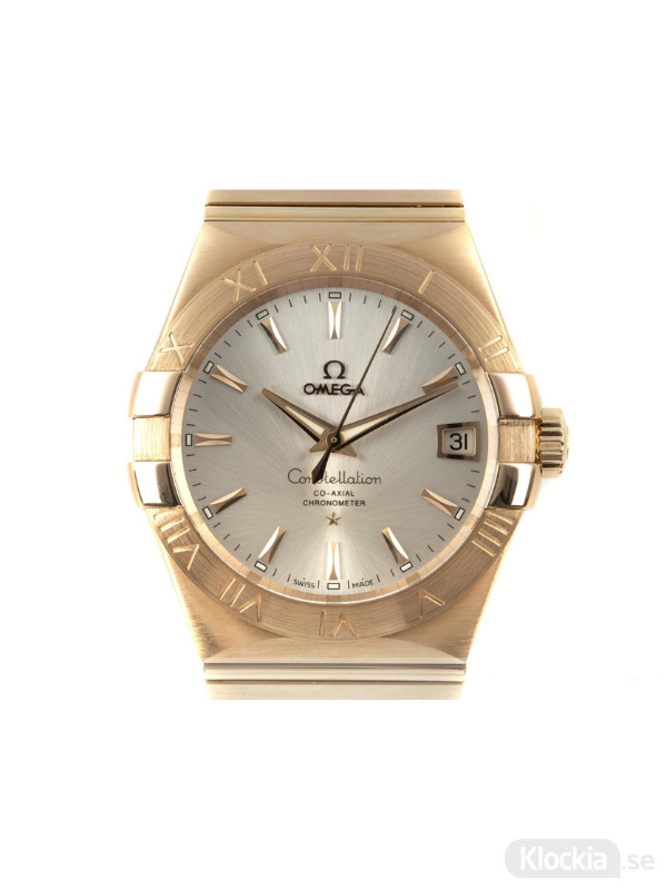 Begagnad Omega Constellation 38 18c Gold Co-Axial Chronometer 123.50.38.21.02.001